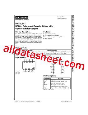 74LS47 Datasheet(PDF)