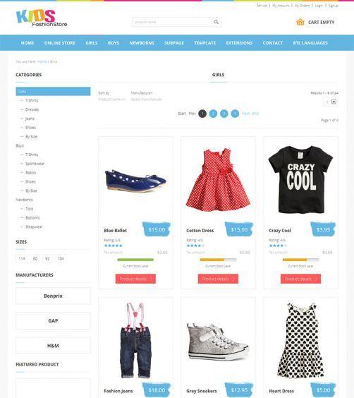 JM-Kids-Fashion-Store. Category View