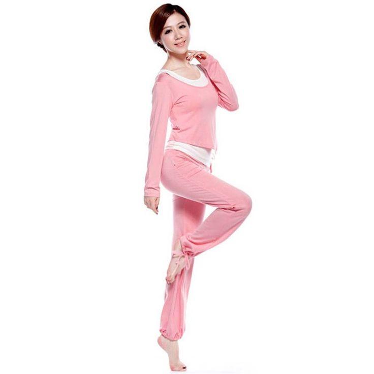 Womens Hot Yoga Pants Yoga Wear Set 3 Pieces Fitness Gym Clothes Dance Outfit