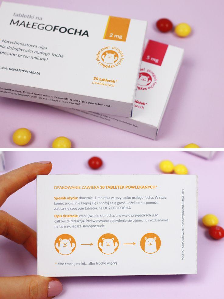 Tabletki na focha i na smutki (pudełka do druku)