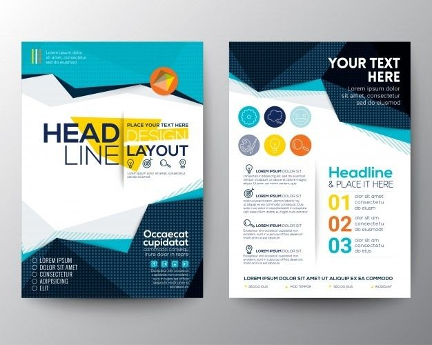 Brochure Template Design Vector Free Download Intended For