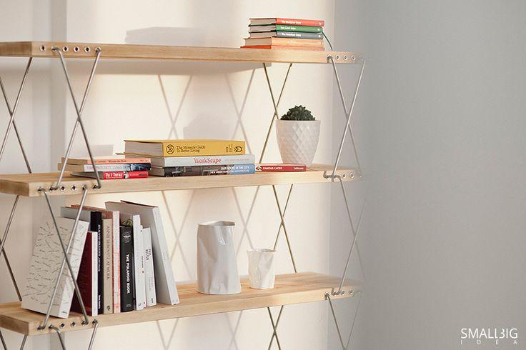© smallbigidea.com wooden bookshelf.