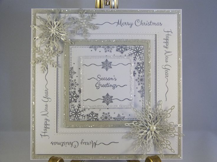 8x8 card in steel and white card
