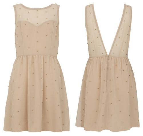 beige: Pretty Dresses, Little Dresses, Nude Dresses, Spring Dresses, Polka Dots, Dreams Closet, Dresses Inspiration, Bridesmaid Dresses, Classic Dresses