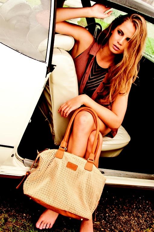 Recycled woven handbag