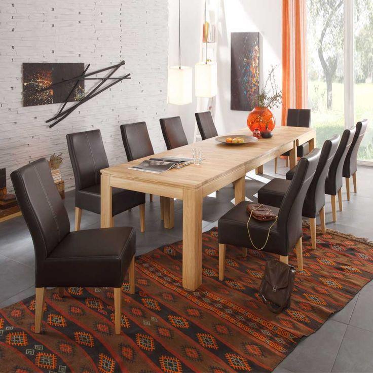 Xxl Esszimmertisch Mit Stuhlen Ausziehbar 11 Teilig Jetzt Bestellen Unter Mo Esszimmertisch Esstisch Modern Esstisch