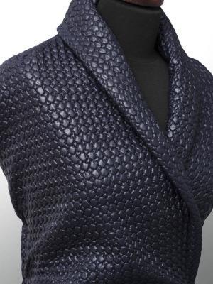 Tkaniny Textilmar.pl - PIKÓWKA WIERZCHNIA GRANATOWA WZÓR 4