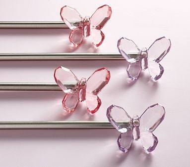 Possible Curtain Rod Finials Big Girl Room Butterflies
