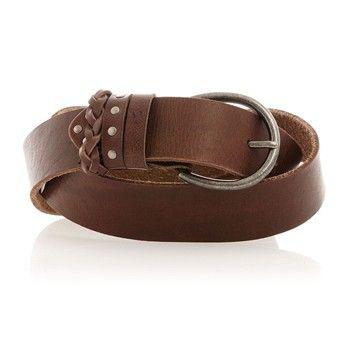 Ceinture - en cuir marron - Bonobo Jeans - Ref: 1361939 | Brandalley