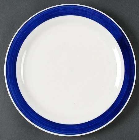 Gibson Designs Essex Cobalt Blue Dinner Plate, Fine China Dinnerware By  Gibson Designs.