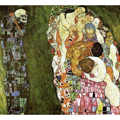 """ Death and Life"", Klimt Gustav , αναπαραγωγή σε καμβά"