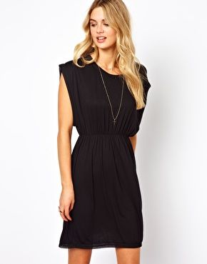 Vila Jersey Dress With Embroidery Trim