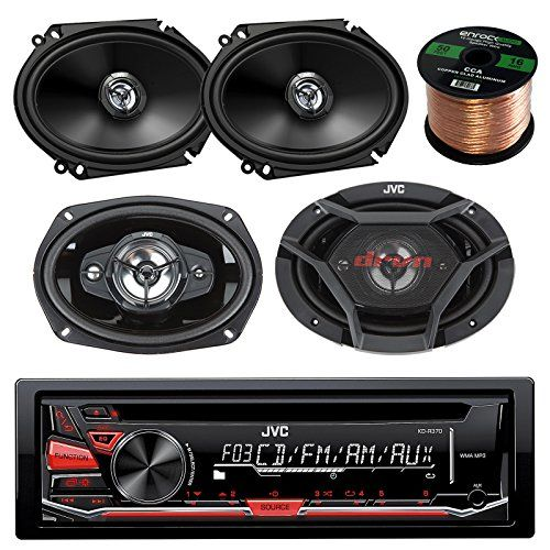 17 best ideas about jvc car audio 80s neon tron jvc kdr370 cdmp3 amfm radio player car receiver bundle combo 2x csdr6820 300watt 6x8 inch