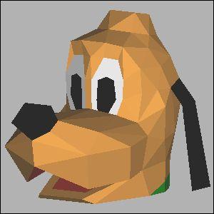 プルートの展開図 似顔絵 無料 ダウンロード ペーパークラフトファン