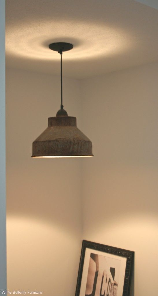 Dairy Cream Milk Strainer Turned Pendant Light Either
