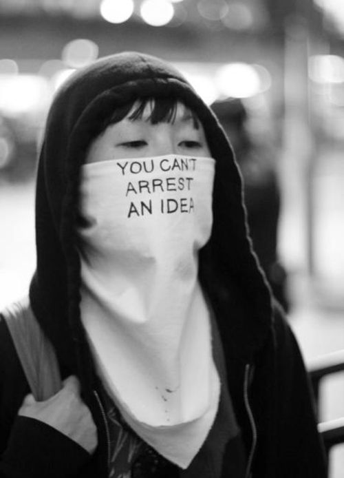 you can't arrest an #idea #thoughts are #free