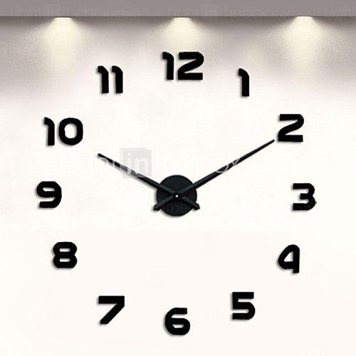 Uermerstar Modern Style 3D DIY Large Wall Clock Diameter 39 in - USD $21.98