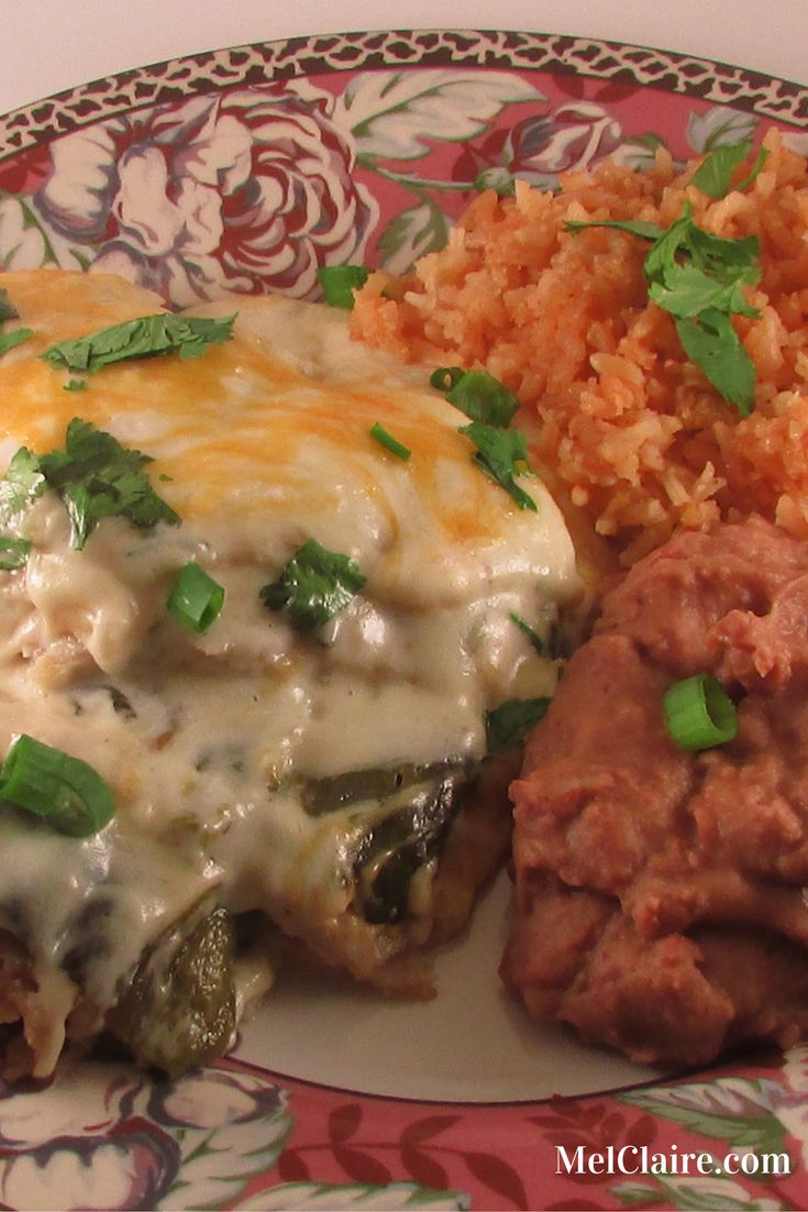 This Sour Cream Chicken and Roasted Poblano Enchilada Casserole is so creamy and delicious and delivers just the right kick of spice if you like things a bit on the wild side! And the heat can be adjusted if spicy is not your thing! Click through to see and print the full recipe or Pin and save for later!