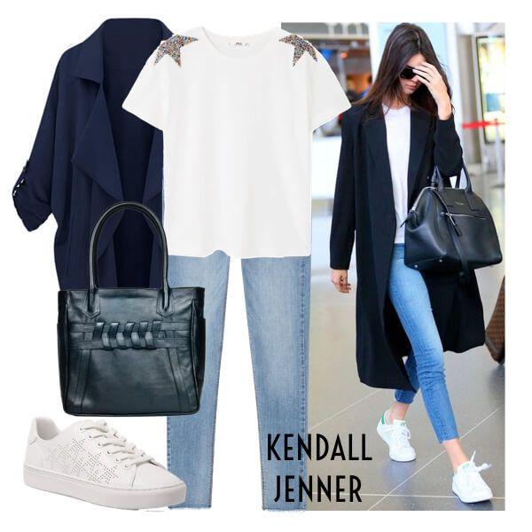 Kendall Airpot Outfit  Comodidad y estilo en un sólo outfit, esto es lo que logra Kendall Jenner cuando escoge su look para viajar