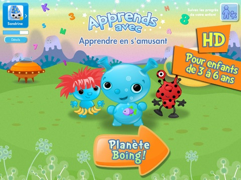 Apprends avec planete Boing: school readiness activities (haven't tried this one yet, but am so impressed by Bayard's other French apps for kids)