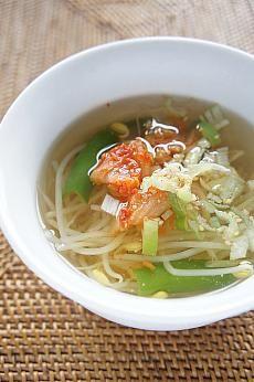 みゆき先生の簡単&おいしい韓国料理レシピ「豆もやしスープ(コンナムルクッ)」 料理教室 みゆき先生 クッキング教室 豆もやしスープ コンナムルコンナムルクッ