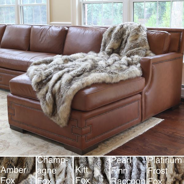 Sofa Tables  Wild Mannered Luxury Long Hair Faux Fur Lap Throw