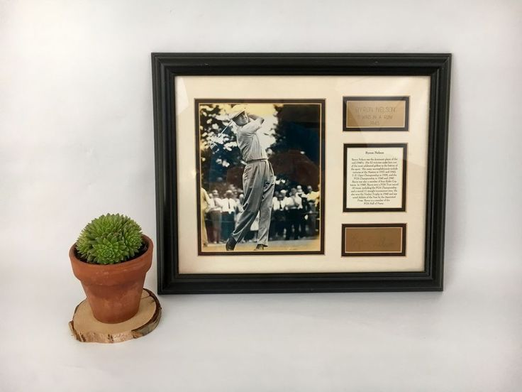Byron Nelson Golf Collectors Picture 1945 Licensed PGA Tour Etched Signature  | eBay