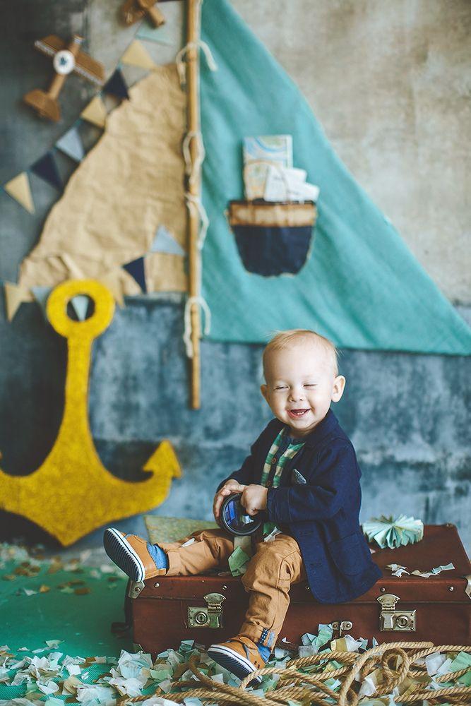 first birthday boy sea party decor photo back decor by Julia Shteyzel декоратор Юлия Штейзель