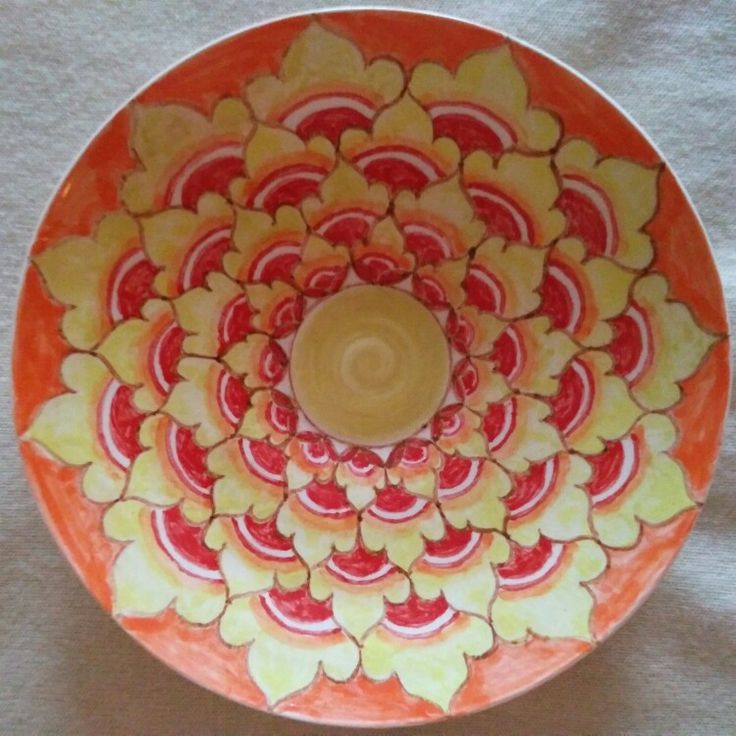 Тарелка - золотые купола