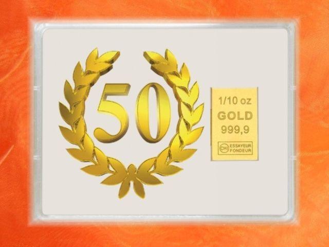 3,1 g Gold zum 50.Geburtstag