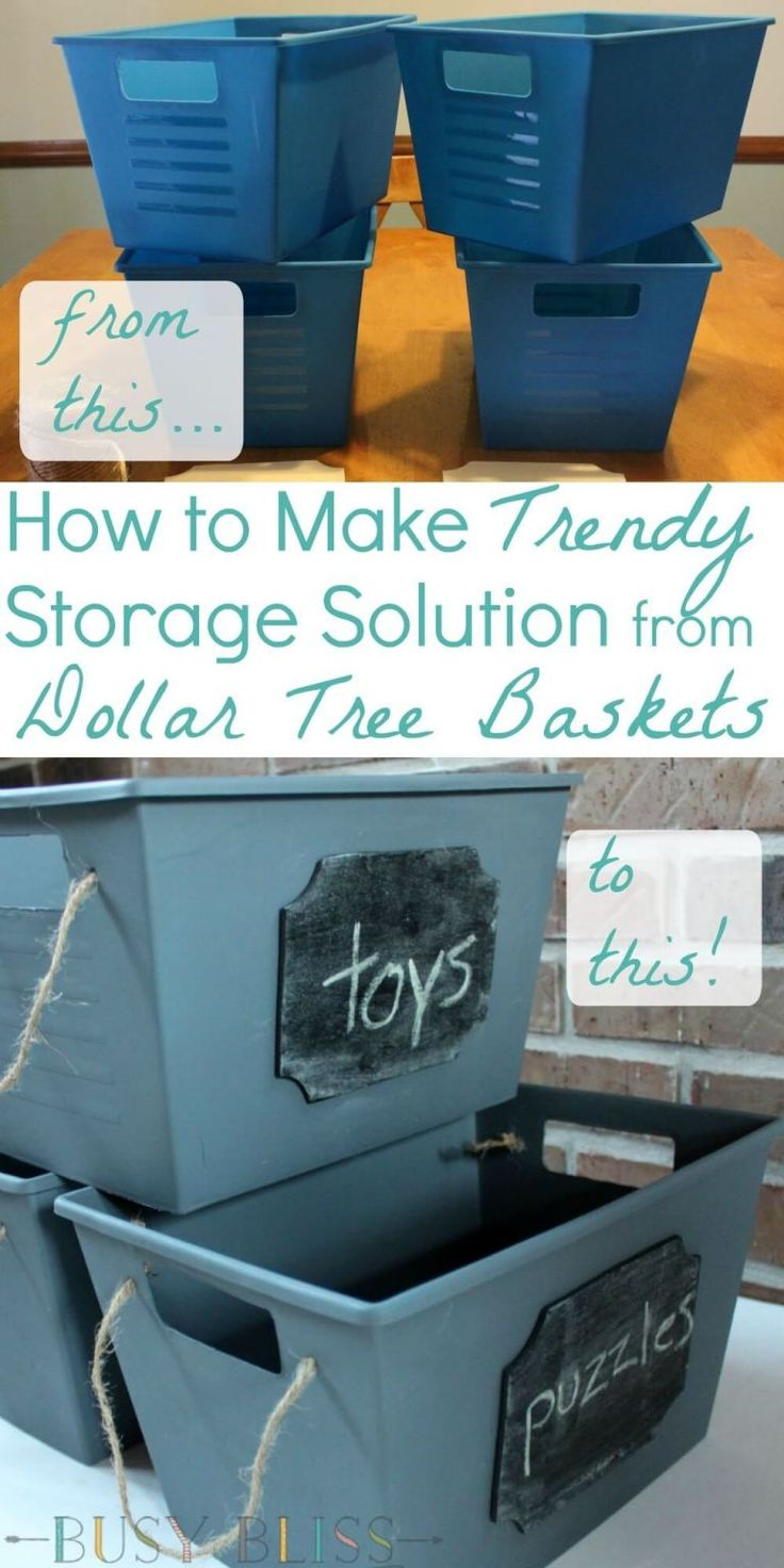 How to Make Trendy Storage Solution from Dollar Tree Baskets