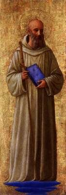 St. Romauld (probably part of the San Marco Altarpiece) - Fra Angelico.  1438-40.  Tempera on panel.  Private collection.