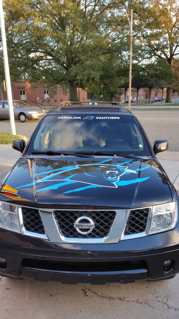 2007 Nissan Pathfinder Carolina Panthers tailgating SUV