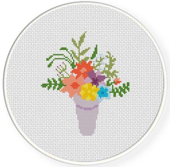 INSTANT DOWNLOAD Stitch Flower bouquet PDF by DailyCrossStitch