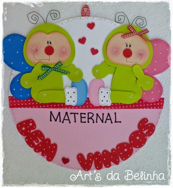 E.v.a. decoração para sala de aula - Educação Infantil feito pelo blog Art's da Belinha