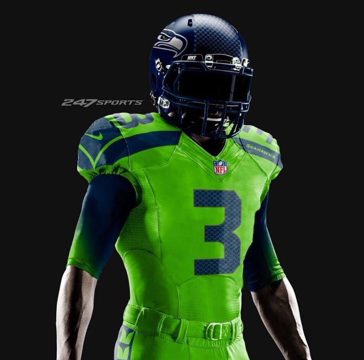 """Seahawks """"Color Rush"""" uniform design concept"""