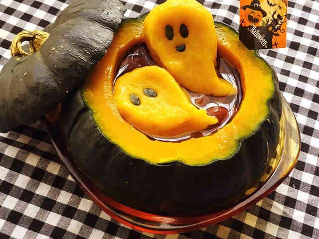 ハロウィンに☆丸ごとかぼちゃ白玉ぜんざいの画像