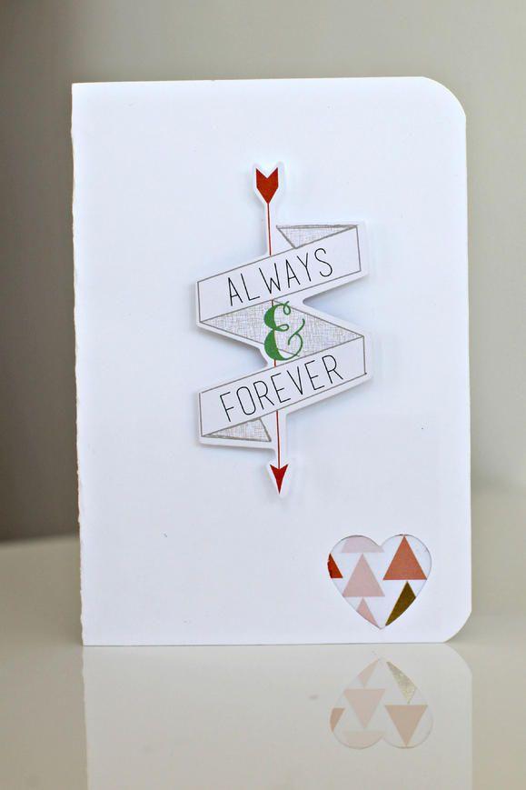 Always and Forever Card www2.fiskars.com