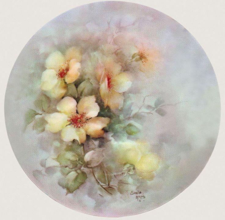 Круглые картинки цветы для декупажа