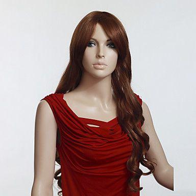 100% Japanese Kanekalon Synthetic Long Curly Wig(Brown)