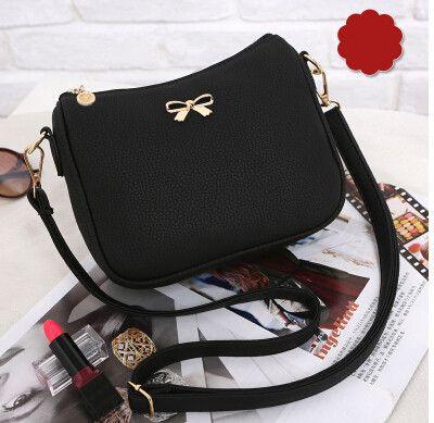 Vogue Star Vintage cute bow small handbag women clutch ladies mobile purse famous brand shoulder messenger crossbody bags LS463