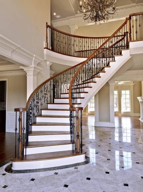 25 best ideas about curved staircase on pinterest grand for Round staircase designs interior