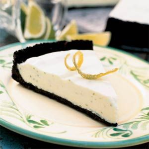 Take a margarita from cocktails to dessert by using limes and tequila in a chocolate-crusted frozen pie. Cheers!