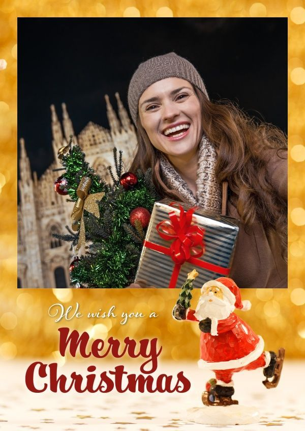 Mypostcard Free Shipping Photo Christmas Cards Online Printed And Mailed For You Worl Print Christmas Card Free Online Christmas Cards Create Christmas Cards
