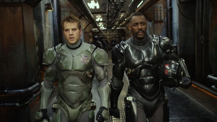 Still of Idris Elba and Robert Kazinsky in Pacific Rim