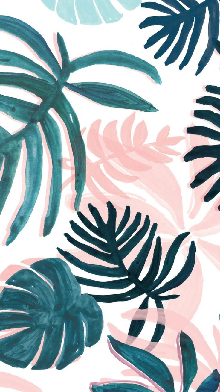 Palm Leaf Art Iphone Background Wallpaper Summer Wallpaper Wallpaper Iphone Cute