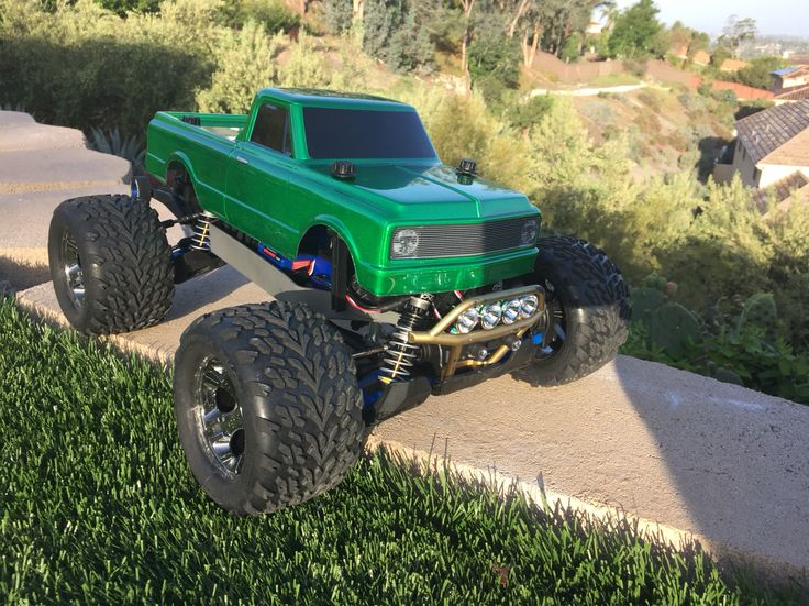 Looking sweet.  New Proline Chevy C10 body on my Traxxas Stampede 4x4 VXL
