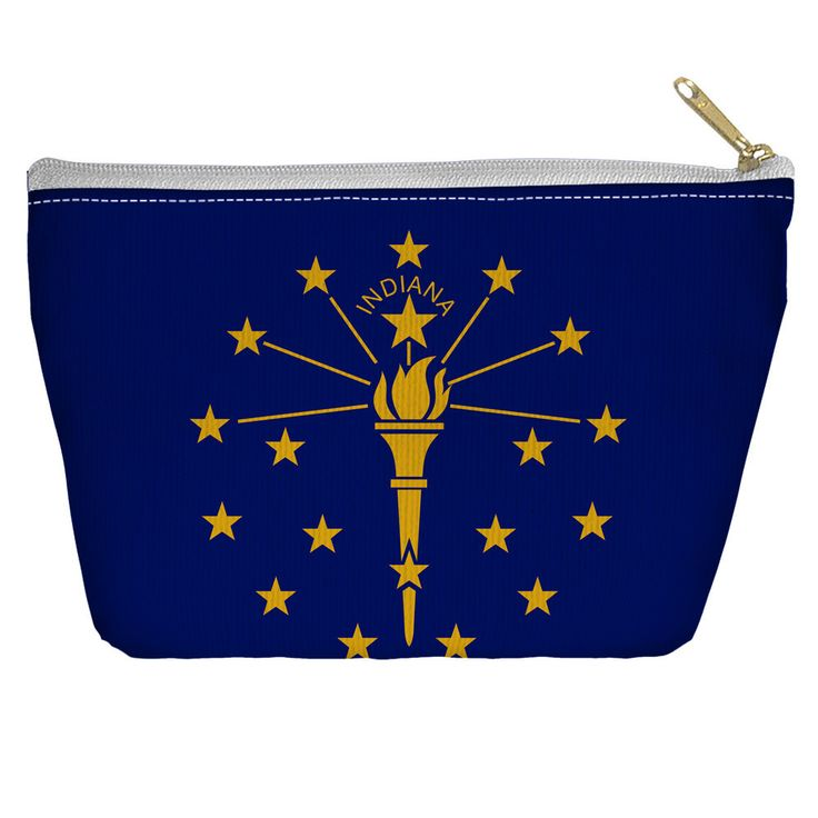 Indiana Flag Accessory Tapered Bottom Pouch