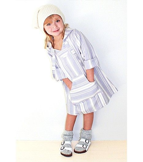 @Who What Wear - DN: This kid's hat slouch is more perfect than I've ever been able to achieve in my life. LT: Socks and Birkenstocks? Where is she getting her insider fashion intel? NK: Seriously, spot on. And Ilove the Baja-inspired dress.