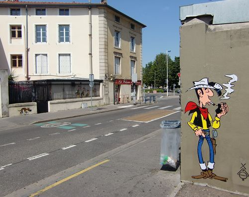 Ville de Nancy - Street Art Lucky Luke